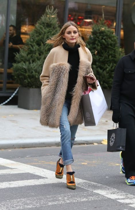 -New York, NY - 12/02/16 - Olivia Palermo Shopping with a friend in Soho -PICTURED: Olivia Palermo -PHOTO by: Adam Nemser/startraksphoto.com -NEM_54078.JPG Editorial - Rights Managed Image - Please contact www.startraksphoto.com for licensing fee Startraks Photo New York, NY For licensing please call 212-414-9464 or email sales@startraksphoto.com Image may not be published in any way that is or might be deemed defamatory, libelous, pornographic, or obscene. Please consult our sales department for any clarification or question you may have. Startraks Photo reserves the right to pursue unauthorized users of this image. If you violate our intellectual property you may be liable for actual damages, loss of income, and profits you derive from the use of this image, and where appropriate, the cost of collection and/or statutory damages.